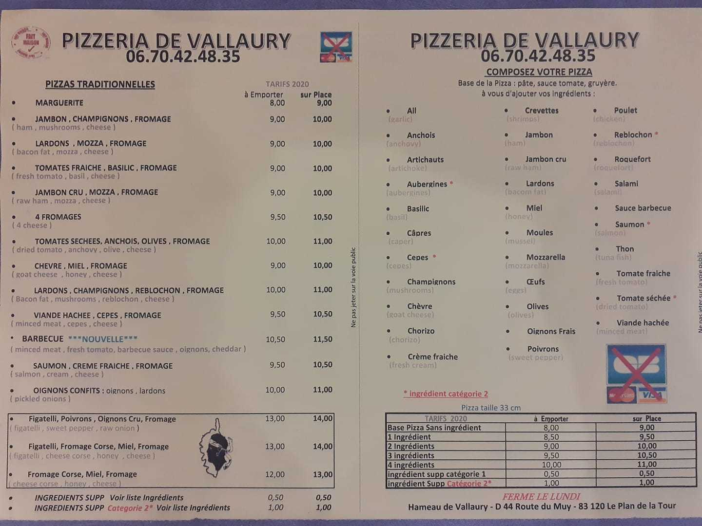 pizza Vallaury